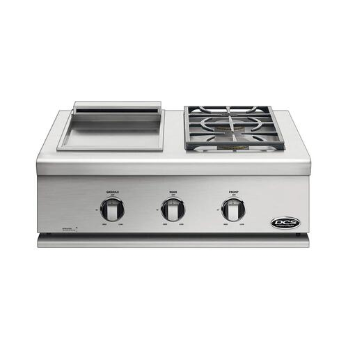 "30"" Series 7 Double Side Burner/ Griddle, Lp Gas"