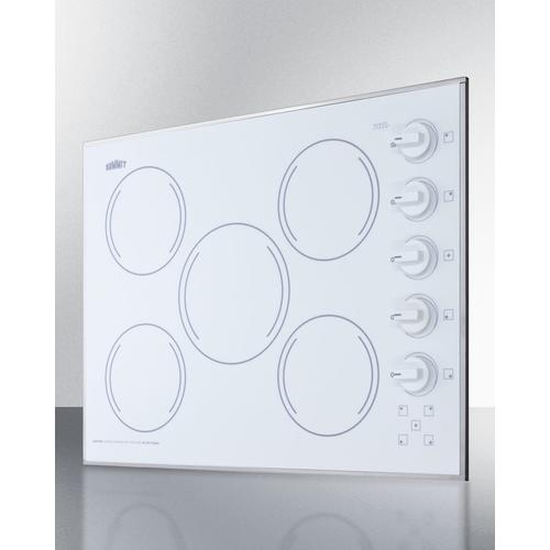 "27"" Wide 230v 5-burner Radiant Cooktop"