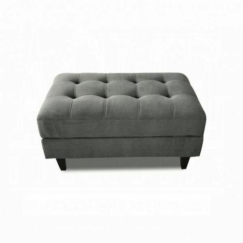 ACME Nate Ottoman w/Storage - 50243 - Gray Fabric