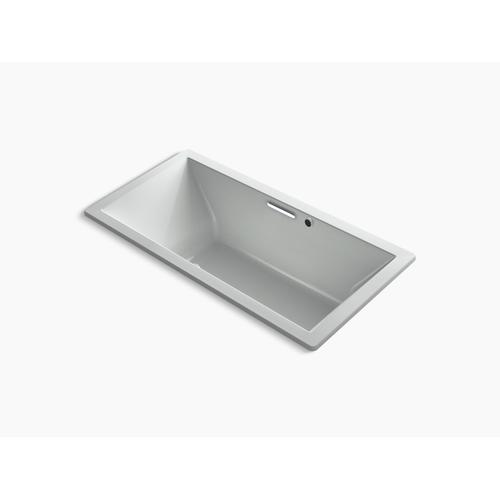"""Ice Grey 72"""" X 36"""" Heated Bubblemassage Air Bath With Bask , Center Drain"""