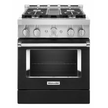 See Details - KitchenAid® 30'' Smart Commercial-Style Gas Range with 4 Burners - Imperial Black