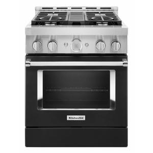KitchenAid® 30'' Smart Commercial-Style Gas Range with 4 Burners - Imperial Black Product Image