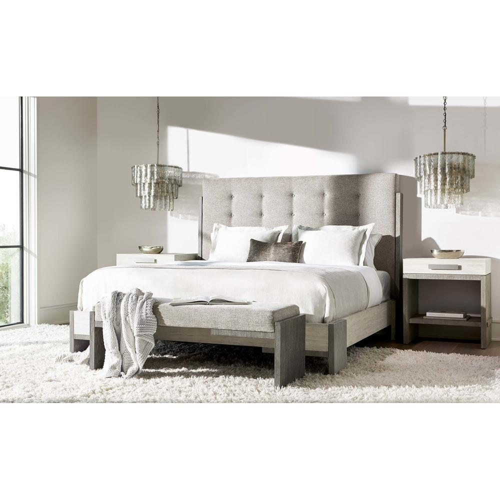 Product Image - King-Sized Foundations Panel Bed in Light Shale (306)