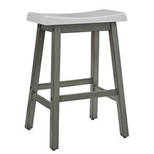 See Details - Counter Stool- 2/CTN - White/Gray Finish