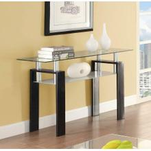 Occasional Contemporary Black Sofa Table