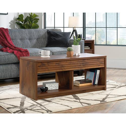 Lift-Top Coffee Table with Storage Shelves