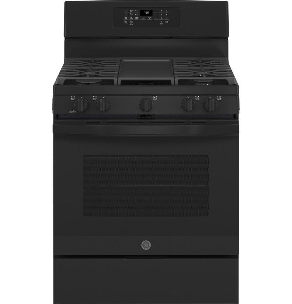 """GE30"""" Free-Standing Gas Convection Range With No Preheat Air Fry"""