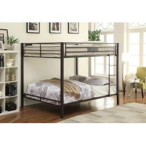ACME Kaleb Queen/Queen Bunk Bed - 38015 - Sandy Black