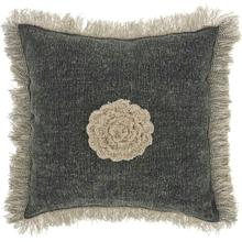 "Life Styles Gt060 Charcoal 16"" X 16"" Throw Pillow"