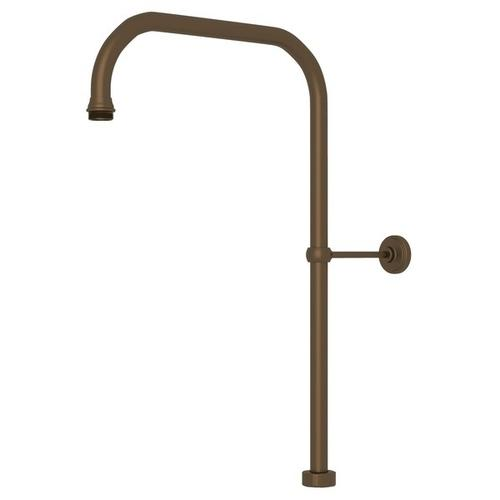 "English Bronze Perrin & Rowe 40"" X 15"" Rigid Riser Shower Outlet"