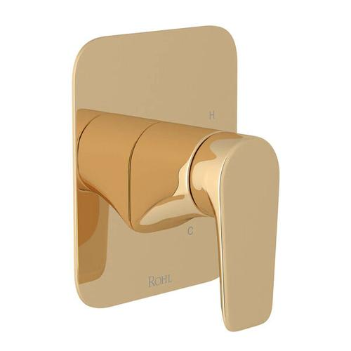 Hoxton Pressure Balance Trim without Diverter - English Gold with Metal Lever Handle