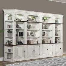 PROVENCE 6pc Open Bookcase Library Wall