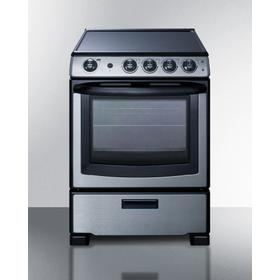 """24"""" Wide Electric Smooth-top Range"""