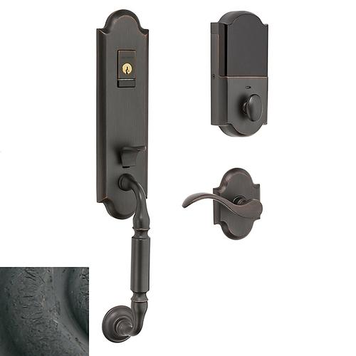 Distressed Oil-Rubbed Bronze Evolved Manchester Handleset