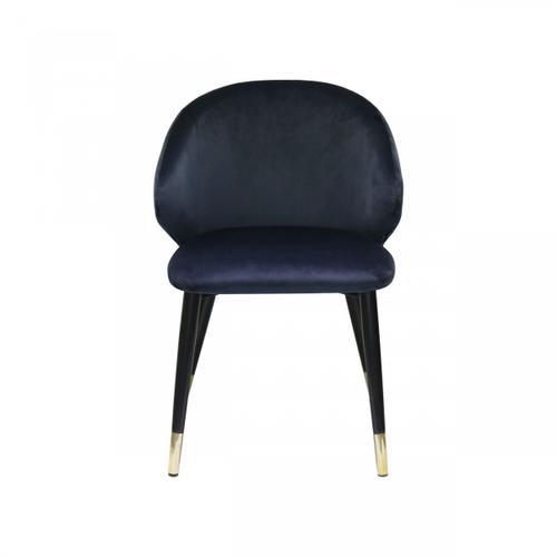Gallery - Modrest Elon - Modern Blue Velvet Dining Chair (Set of 2)