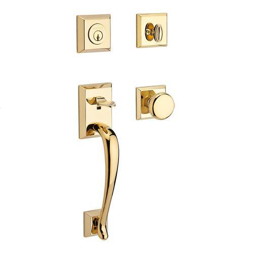 Baldwin - Polished Brass Napa Handleset