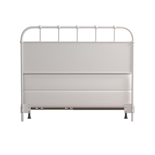 Gallery - Grayson Full/queen Metal Headboard With Frame, Textured White
