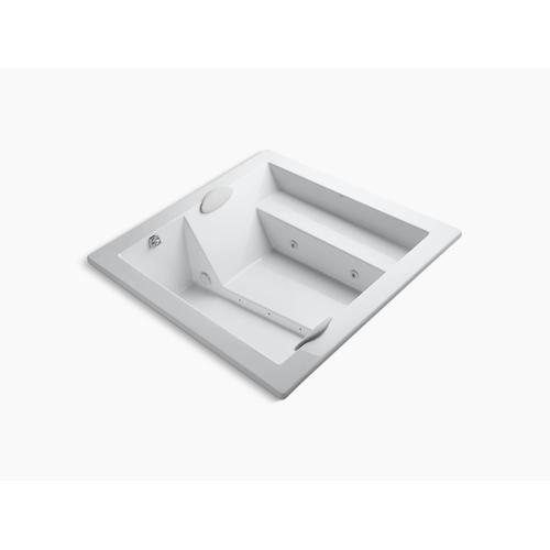 """White 69"""" X 69"""" Drop-in Whirlpool Without Jet Trim"""