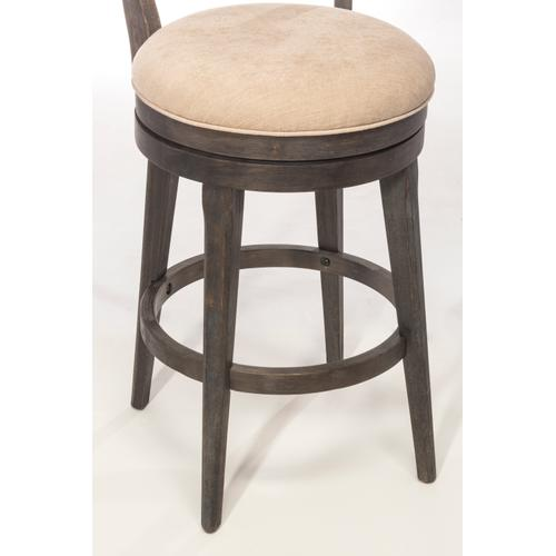 Leclair Swivel Counter Height Stool, Wirebrush Brown Gray