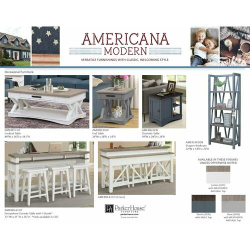 AMERICANA MODERN - DOVE Chairside Table