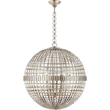 View Product - AERIN Mill 6 Light 30 inch Burnished Silver Leaf Globe Lantern Ceiling Light, Large