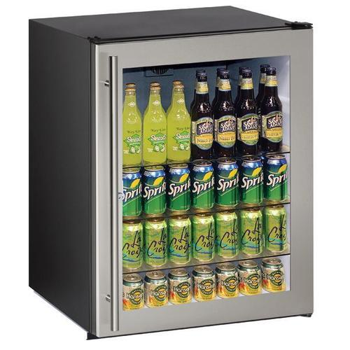 "U-Line - 24"" Refrigerator With Stainless Frame Finish (115 V/60 Hz Volts /60 Hz Hz)"