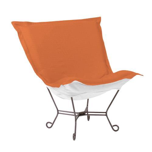 Scroll Puff Chair Seascape Canyon Titanium Frame