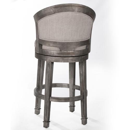Monae Swivel Bar Height Stool, Distressed Dark Gray