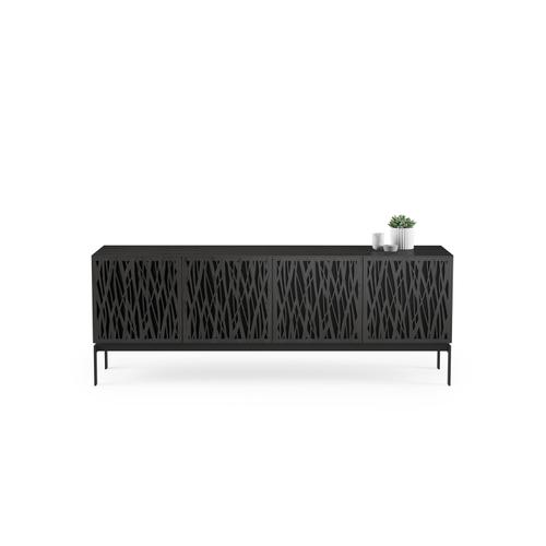 BDI Furniture - Elements 8779 Console Storage Console in Wheat Doors Charcoal Stained Ash