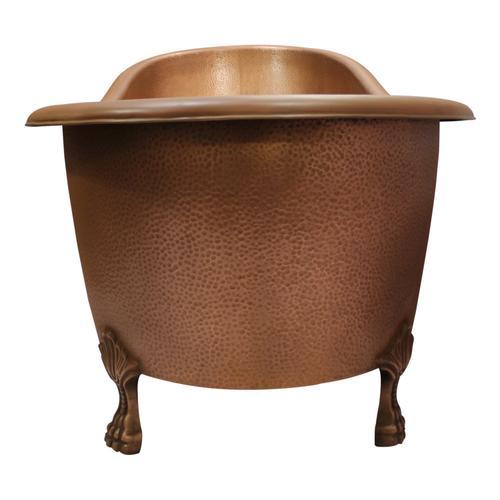 """Gitali 68"""" Slipper Copper Tub"""