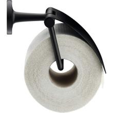 Toilet Paper Holder With Cover, Black Matte