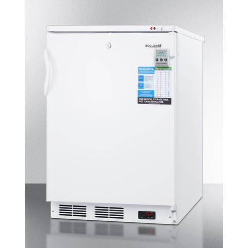 Built-in Undercounter Vaccine Storage All-freezer With Digital Thermostat, Temperature Alarm, Hospital Grade Cord, Self-closing Door, and Front Lock