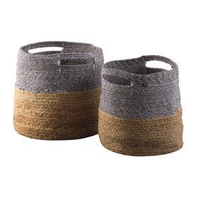 See Details - Parrish Basket Set Natural/Blue