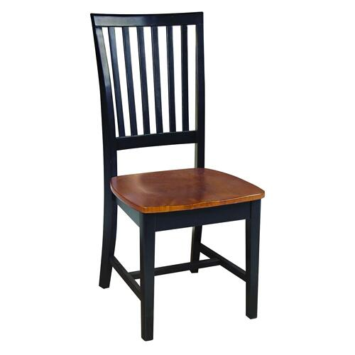 John Thomas Furniture - Mission Chair in Black & Cherry