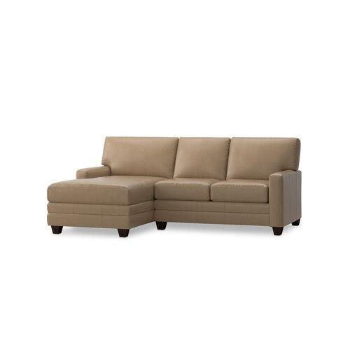 Carolina Leather Thin Track Arm L Chaise Sect