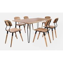"""Nature's Edge 79"""" Dining Table With 4 Chairs - Natural"""