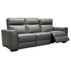 Braeburn Leather Sofa w/PWR Recline PWR Headrest