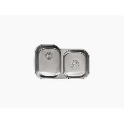 "31"" X 20-1/8"" X 9-1/2"" Undermount Large/medium Double-bowl Kitchen Sink"
