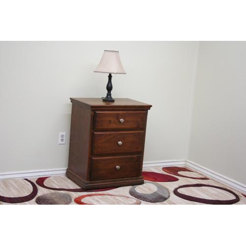A-T450-X 3 Drawer Night Stand with Secret Compartment