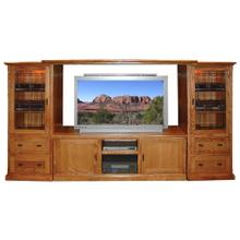 See Details - Forest Designs Mission TV Stand & Piers - 53w