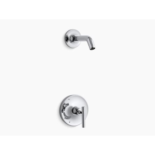 Kohler - Vibrant Polished Nickel Rite-temp Shower Valve Trim With Lever Handle, Less Showerhead