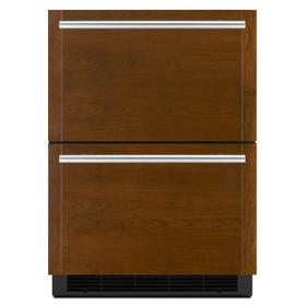 """Panel-Ready 24"""" Double-Refrigerator Drawers Panel Ready"""