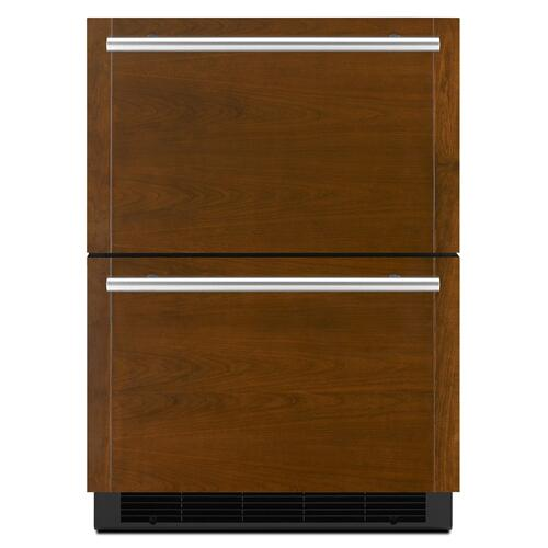 "Panel-Ready 24"" Double-Refrigerator Drawers Panel Ready"