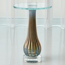 Product Image - Irys Blue Ribbed Accent Table