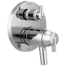Chrome Contemporary Two Handle TempAssure ® 17T Series Valve Trim with 6-Setting Integrated Diverter