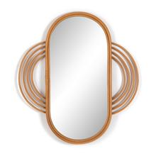 Naz Mirror-honey Rattan