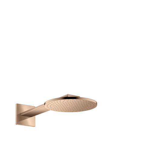 Polished Red Gold Overhead shower 250 2jet with shower arm