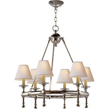 E. F. Chapman Classic 6 Light 26 inch Polished Nickel Chandelier Ceiling Light