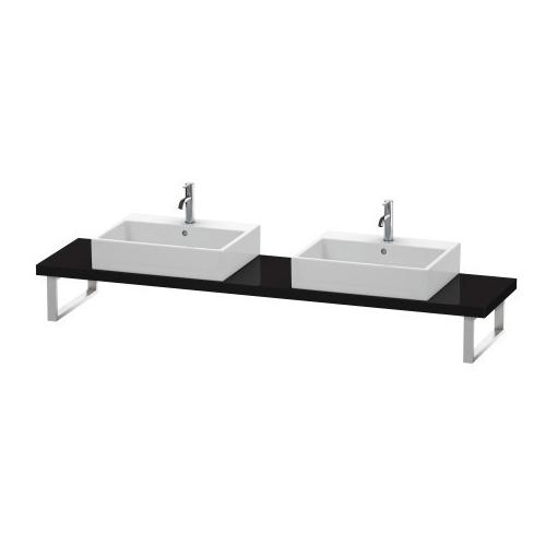 Product Image - Console For Above-counter Basin And Vanity Basin Compact, Black High Gloss (lacquer)