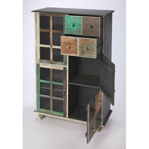 Butler Specialty Company - This stunning accent chest is handcrafted from mango hardwood solids and wood products and hand finished in a whimsical profusion of pastels. It features abundant storage with two top drawers and compartments behind four doors on the bottom right and left sides.